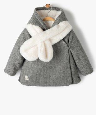 Manteau bébé fille avec écharpe douce - Lulu Castagnette vue1 - LULUCASTAGNETTE - GEMO