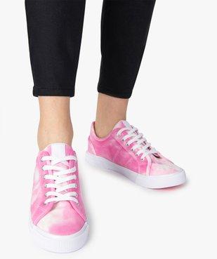 Tennis femme en toile unie effet tie and dye vue1 - GEMO (SPORTSWR) - GEMO