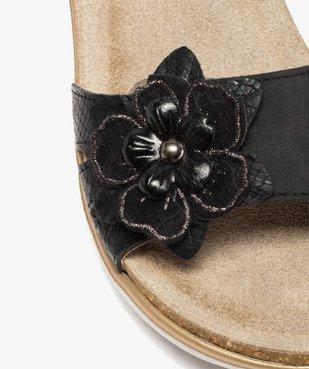 Mules femme confort à bandeau scratch et fleur brillante vue6 - GEMO (CONFORT) - GEMO