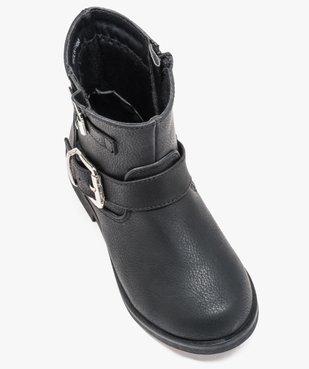 Boots fille unis avec boucles décoratives fermeture zippée vue5 - GEMO (ENFANT) - GEMO