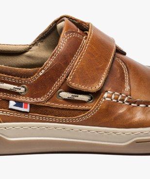 Chaussures bateau homme dessus cuir fermeture scratch vue6 - GEMO (CONFORT) - GEMO
