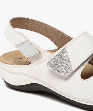 Sandale femme confort à larges brides scratch vue6 - GEMO (CONFORT) - GEMO