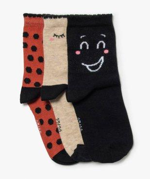 Chaussettes fille à motif fantaisie tige haute (lot de 3) vue1 - GEMO (ENFANT) - GEMO