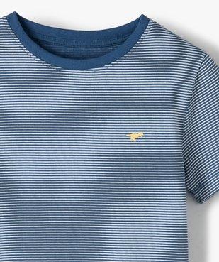 Tee-shirt garçon à fines rayures vue2 - GEMO C4G GARCON - GEMO