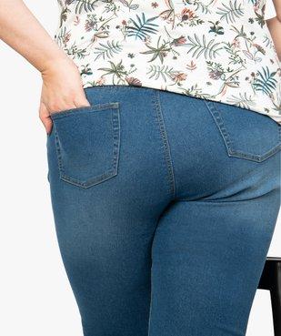 Pantacourt femme slim en denim stretch vue2 - GEMO (G TAILLE) - GEMO