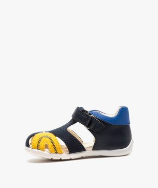 Sandales bébé garçon multicolores doublées cuir - Geox vue3 - GEOX - GEMO