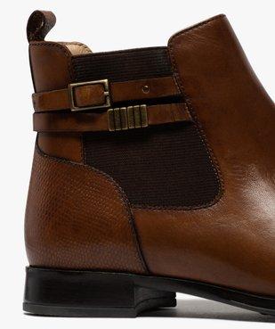 Boots femme unis à talon plat dessus cuir – Pierre Cardin vue6 - PIERRE CARDIN D - GEMO