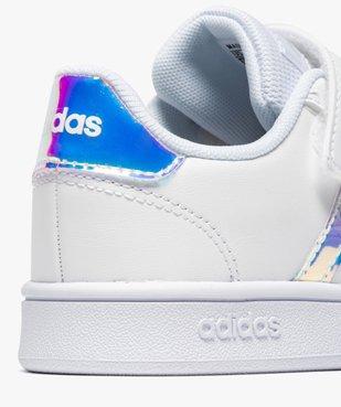 Baskets fille à détails irisés – Adidas Grand Court vue6 - ADIDAS - Nikesneakers