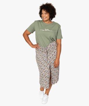 Tee-shirt femme imprimé avec petites épaulettes vue5 - GEMO (G TAILLE) - GEMO