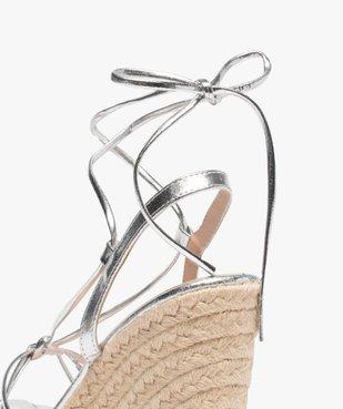 Sandales femme à talon compensé et fines brides Only vue6 - ONLY - GEMO