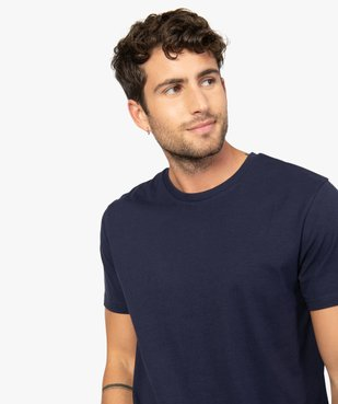 Tee-shirt homme à manches courtes et col rond vue2 - GEMO (HOMME) - GEMO