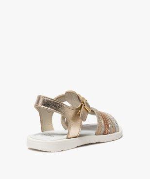 Sandales fille à brides multiples métallisées vue4 - GEMO (ENFANT) - GEMO