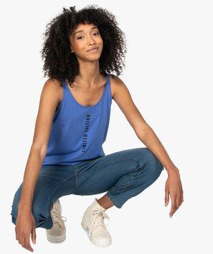 Débardeur femme avec message  vue1 - Nikesneakers(FEMME PAP) - Nikesneakers