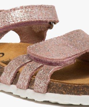 Sandales bébé fille à scratch et brides en cuir métallisées vue6 - GEMO(BEBE DEBT) - GEMO