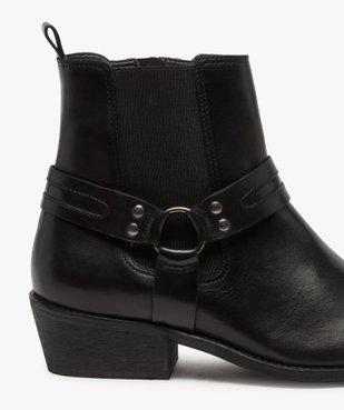 Boots homme unis zippés style santiags vue6 - GEMO(URBAIN) - GEMO