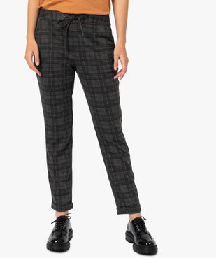 Pantalon femme en maille extensible imprimé vue1 - GEMO(FEMME PAP) - GEMO