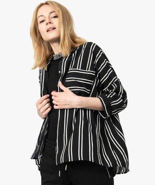 Chemise femme coupe ample à rayures et manches 3/4 vue1 - GEMO(FEMME PAP) - GEMO