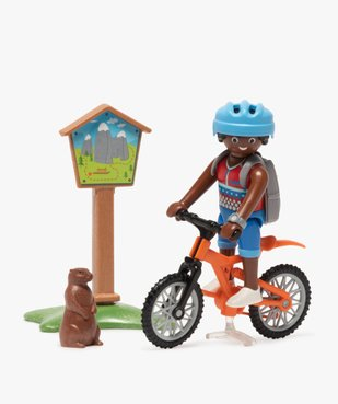 Jouet enfant Cycliste et marmotte - Playmobil vue2 - DIVERS LICENCE - GEMO