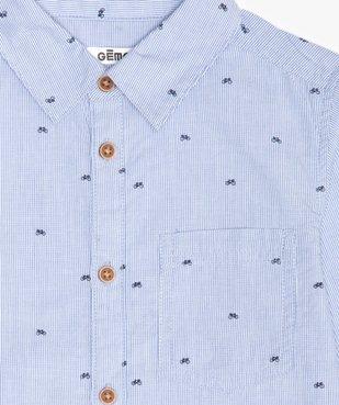 Chemise garçon à fines rayures et motifs vue3 - GEMO (ENFANT) - GEMO