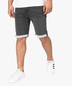 Bermuda homme en jean extensible vue1 - Nikesneakers (HOMME) - Nikesneakers