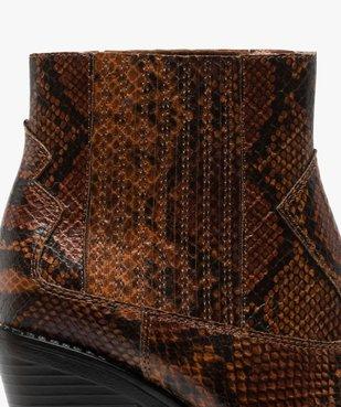 Boots femme style santiag à col élastiqué et bout pointu vue6 - Nikesneakers(URBAIN) - Nikesneakers