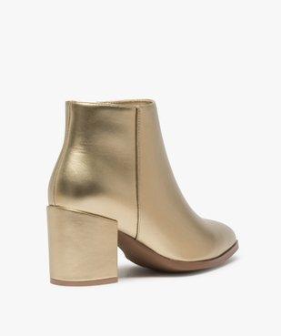 Boots femme à talon unis tige métallisée vue4 - Nikesneakers(URBAIN) - Nikesneakers