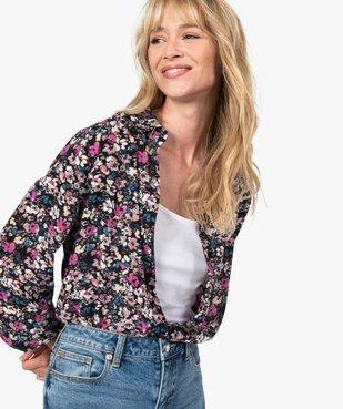 Chemise femme à motifs fleuris vue5 - GEMO(FEMME PAP) - GEMO