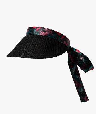 Visière femme aspect tricoté et motifs fleuris vue1 - GEMO (ACCESS) - GEMO