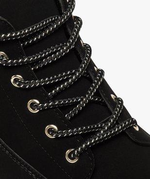 Boots femme à lacets col rembourré et semelle crantée vue6 - GEMO (CASUAL) - GEMO