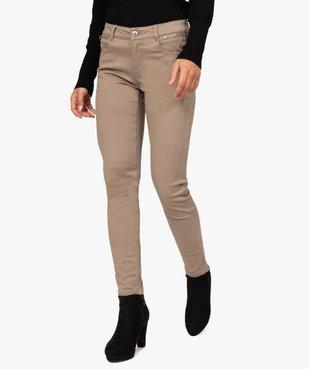 Pantalon femme coupe slim effet push-up vue1 - Nikesneakers(FEMME PAP) - Nikesneakers