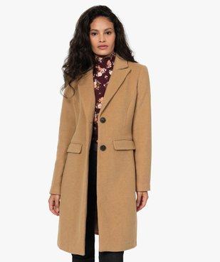 Manteau femme mi-long à col tailleur vue1 - GEMO(FEMME PAP) - GEMO