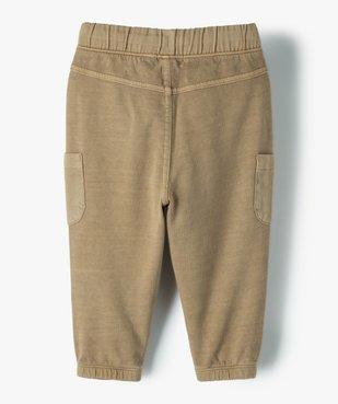 Pantalon bébé garçon en maille avec poches fantaisie vue3 - GEMO(BEBE DEBT) - GEMO