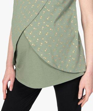 Tee-shirt de grossesse et d'allaitement à motifs vue2 - GEMO (MATER) - GEMO
