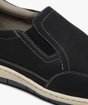 Chaussures bateau homme dessus cuir perforé – Terre de Marins vue6 - TERRE DE MARINS - GEMO