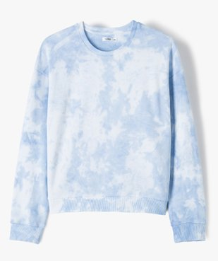 Sweat fille bicolore effet tie and dye coupe courte vue1 - Nikesneakers (JUNIOR) - Nikesneakers