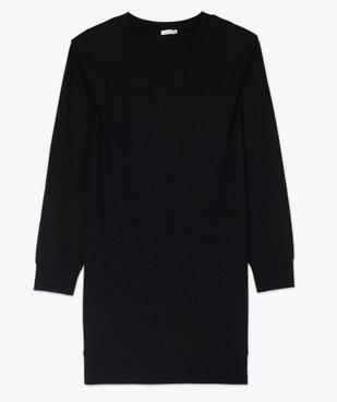 Robe femme sweat avec épaulettes - LuluCastagnette vue4 - LULUCASTAGNETTE - GEMO