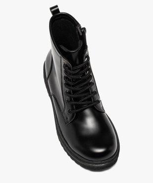 Boots fille unis à semelle crantée fermeture lacets et zip vue5 - GEMO (ENFANT) - GEMO