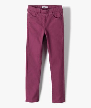 Pantalon fille skinny uni à taille élastiquée vue1 - Nikesneakers (ENFANT) - Nikesneakers