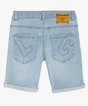 Bermuda garçon en jean stretch - Lulu Castagnette vue6 - LULUCASTAGNETTE - GEMO