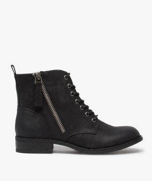 Boots femme style rangers à zip vue1 - GEMO (CASUAL) - GEMO