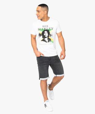 Tee-shirt homme avec motif Bob Marley - Zion vue5 - BOB MARLEY - GEMO
