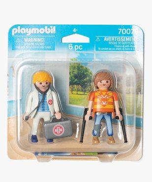 Jouet enfant Médecin et patient - Playmobil vue1 - DIVERS LICENCE - GEMO