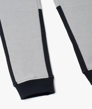 Pantalon de sport garçon en molleton à poches latérales vue3 - GEMO (ENFANT) - GEMO