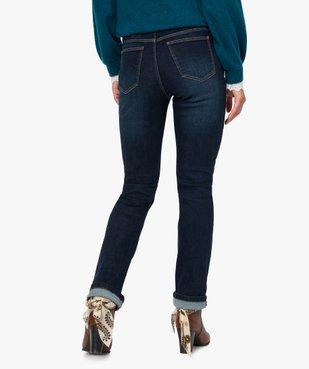 Jean femme regular taille normale brut avec ceinture vue3 - GEMO(FEMME PAP) - GEMO