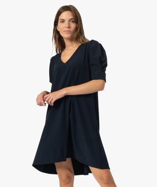 Robe femme forme trapèze à manches courtes vue1 - Nikesneakers(FEMME PAP) - Nikesneakers