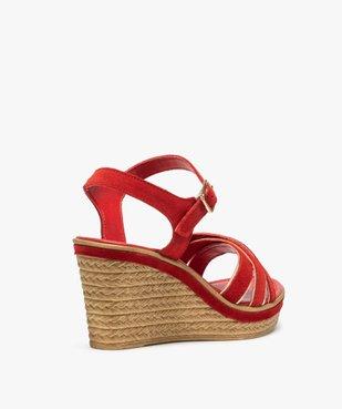 Sandales femme à talon compensé et détails métallisés vue4 - GEMO(URBAIN) - GEMO
