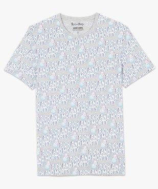 Tee-shirt homme à manches courtes imprimé - Rick and Morty vue4 - RICK ET MORTY - GEMO