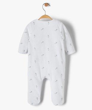Pyjama bébé garçon en velours avec motifs animal vue3 - GEMO(BB COUCHE) - GEMO