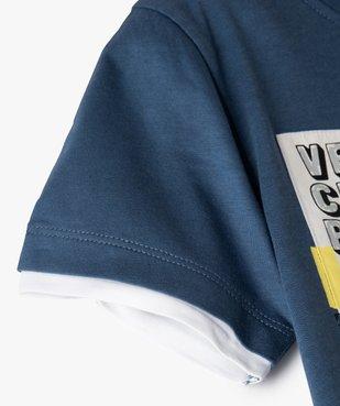 Tee-shirt garçon effet 2 en 1 avec large motif dinosaure vue3 - GEMO C4G GARCON - GEMO