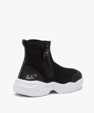 Baskets fille style chaussettes zippées – Lulu Castagnette vue4 - LULU CASTAGNETT - Nikesneakers